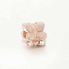 Rose Gold Butterfly Charm