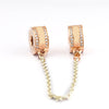 Image of Rose Gold Safety Chain Charm