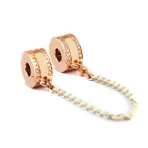Rose Gold Safety Chain Charm
