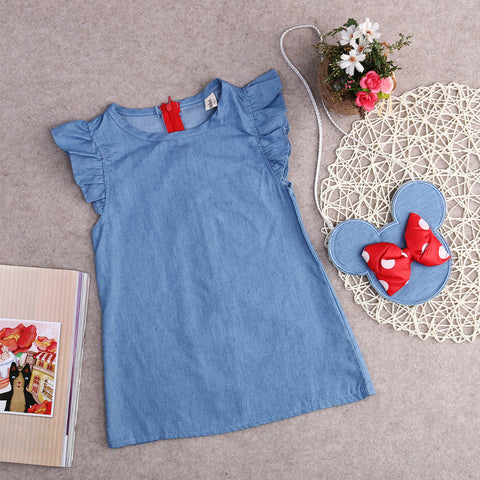 Denim Dress with Minnie Mouse Bag