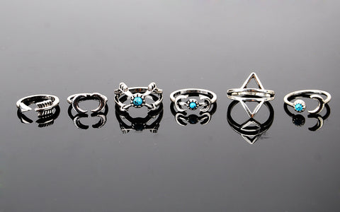 ***FREE*** 6PCS Vintage Boho Ring Set
