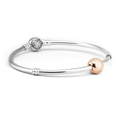 Rose Gold Solid Clip Charm
