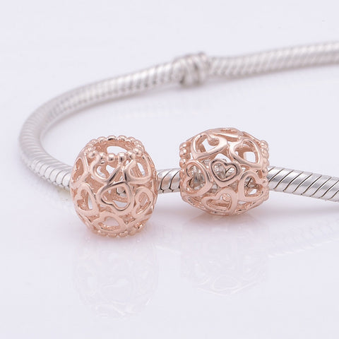 Rose Gold 'United Hearts' Charm