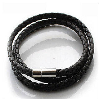 Braided Rope Faux Leather bracelet