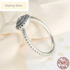 Image of Sparkling Sterling Silver Flower Ring
