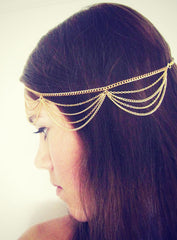 Scalloped Hair Chain