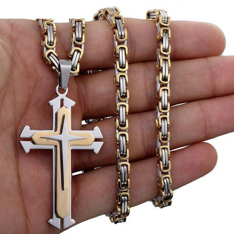 Knights Cross Mens Necklace