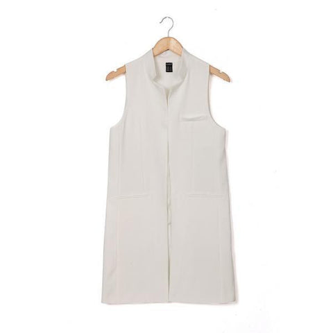 Long Sleeveless Trench Top