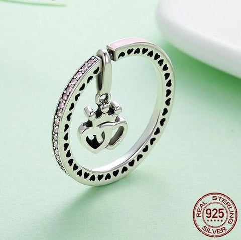 Breast Cancer PinkHart™ 2 in1 Ring and Pendant