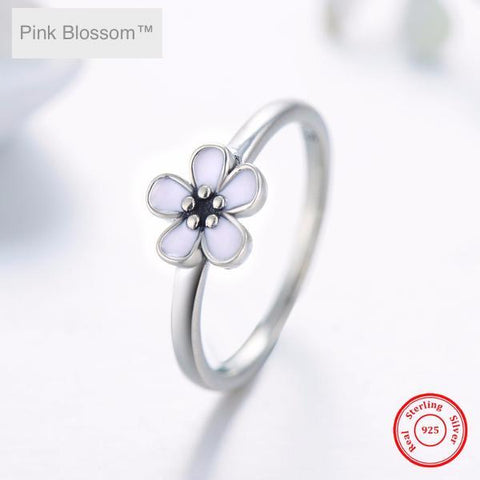 Pink Blossom™ Silver Ring