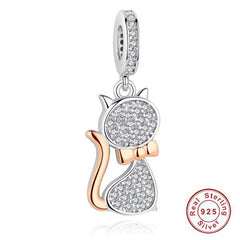Cat Lovers Sterling Silver Charm