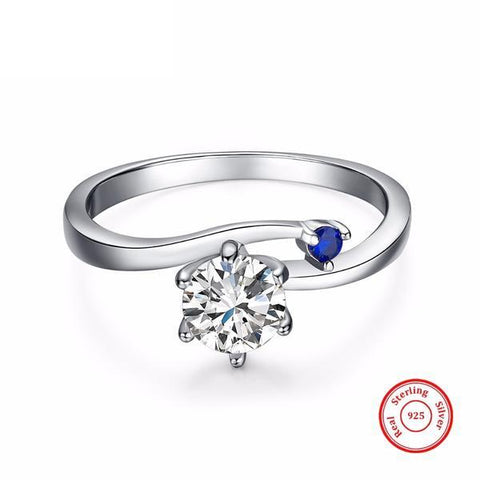 Sapphire Wave™ Silver Ring