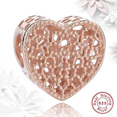 Rose Gold 'Open Heart' Charm