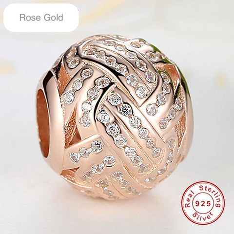 Rose Gold Crystal Ball Bead