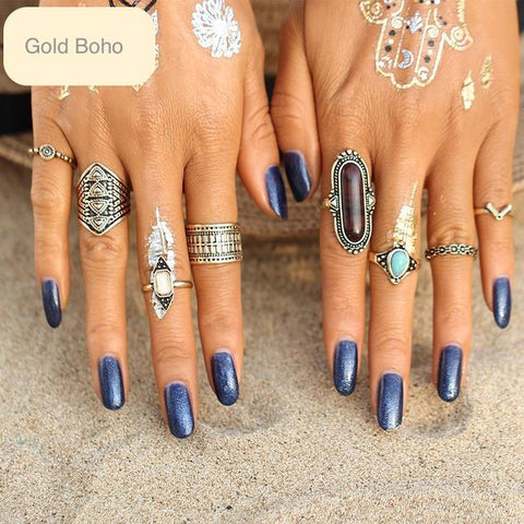 Native Boho Ring Set (8)