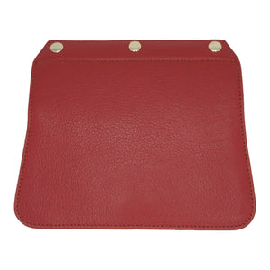 Convertible Handbag Flap - Red