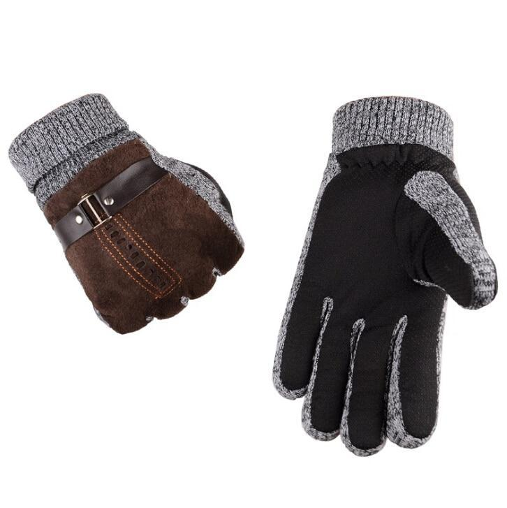 Natural Suede Leather Gloves