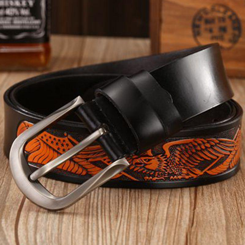 Genuine Leather Pin Buckle Punk Belt