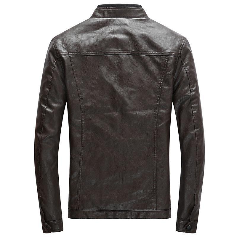 PU Motorcycle Faux Leather Jacket
