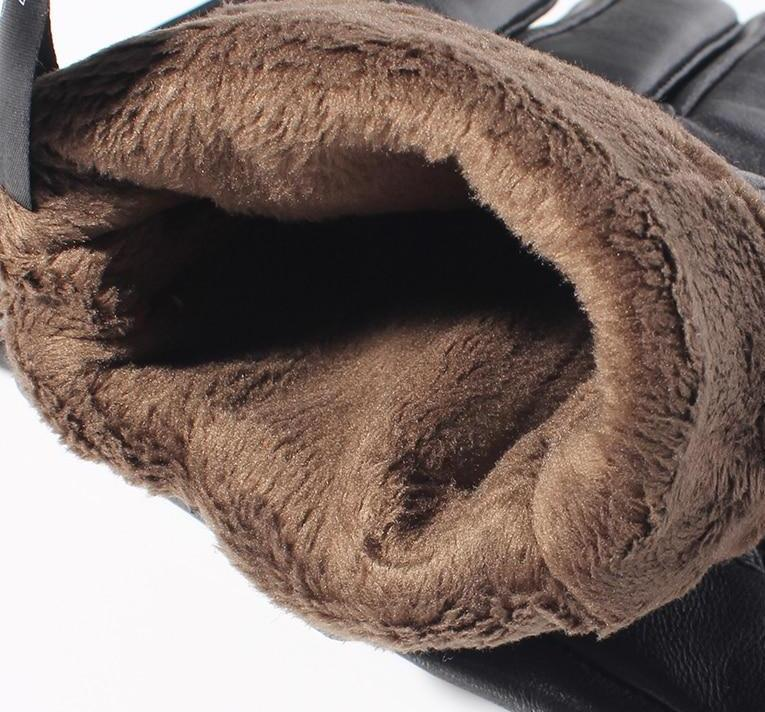 Real Sheepskin Black Screen Gloves