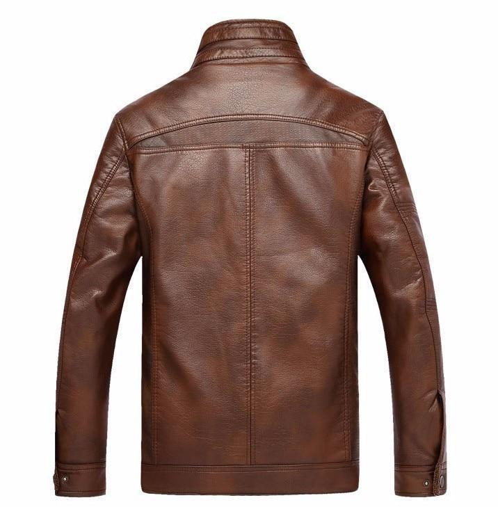 Winter Fleece Leather Jacket