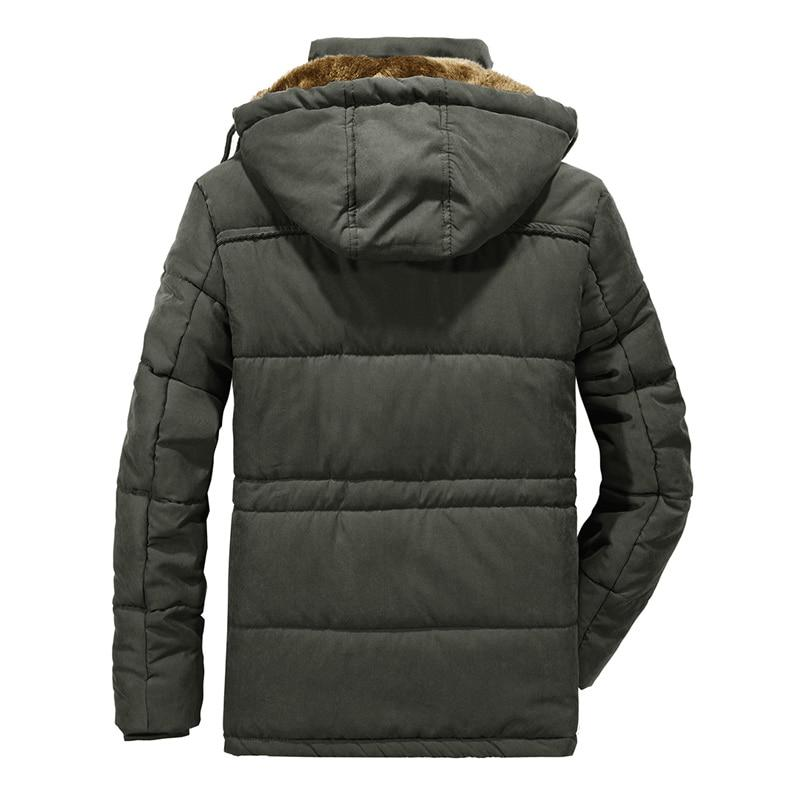 Thick Warm Hooded Military Jacket