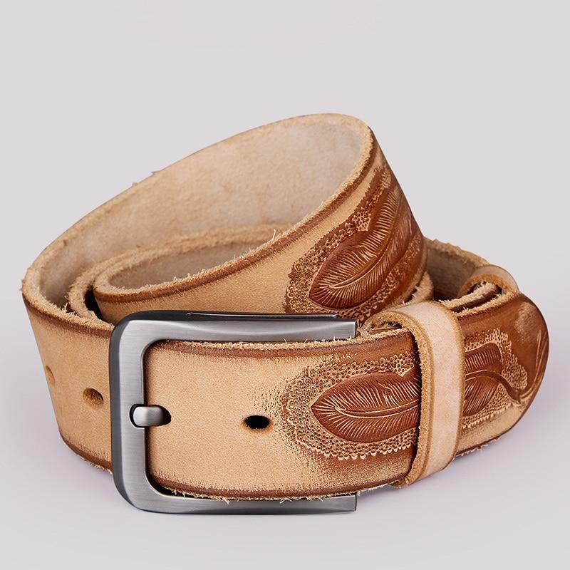 Leather Embossed Belt