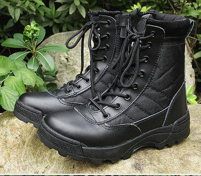 Ankle Tactical Boots - Zip closing