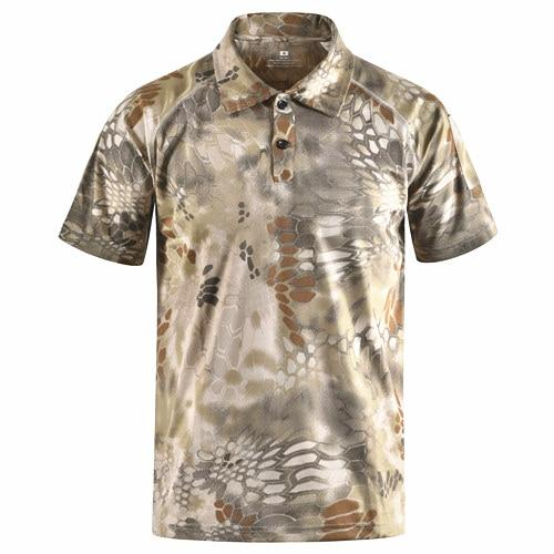 Tactical Camouflage Polo T Shirt