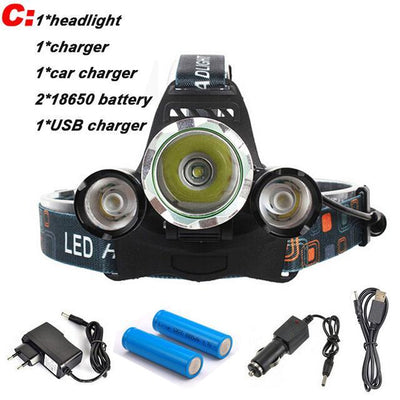 Hunter's ULTRA Bright LED Rechargeable Headlamp