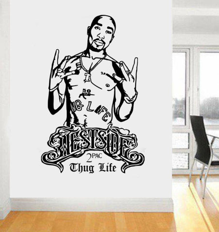 OnDecal Legend Rapper Tupac Wall Decal