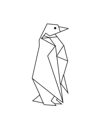 OnDecal Geometric Penguin Wall Decal