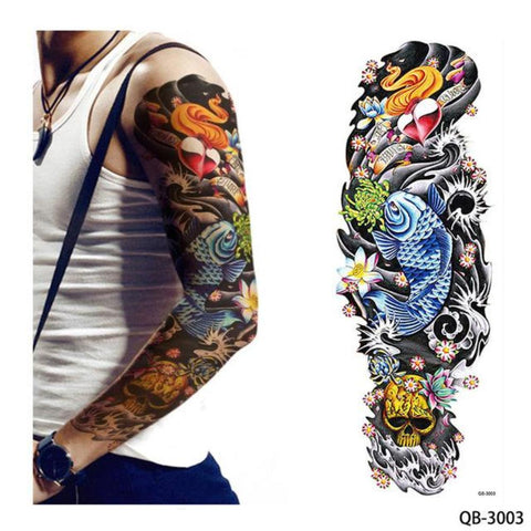 1 Piece Water Transfer Temporary Tattoo Full Arm – OnDecal