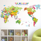 OnDecal Colourful Children's Map