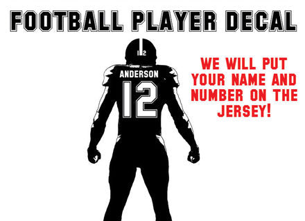 OnDecal Football Athlete Custom Jersey Name And Number Wall Decal