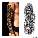 OnDecal 1 Piece Water Transfer  Temporary Tattoo Full Arm