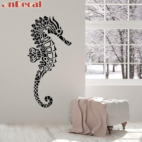 OnDecal Geometric Seahorse Wall Decal