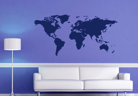 Ondecal world maps decals ondecal simple world map publicscrutiny Image collections
