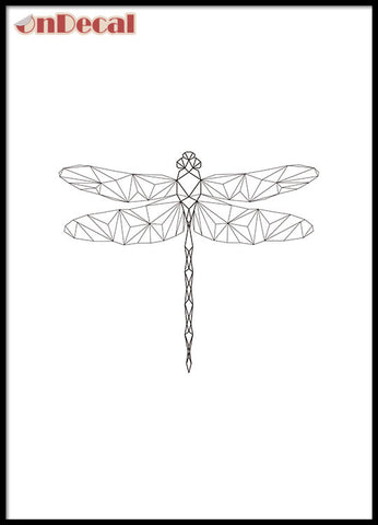 OnDecal Geometric Dragonfly Wall Decal