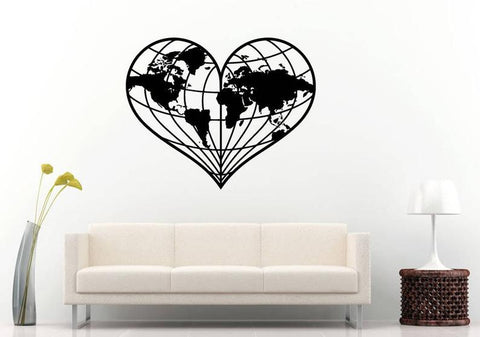 OnDecal Heart Shaped World Map