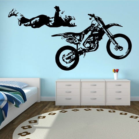 OnDecal MOTOCROSS STUNT MOTORBIKE MX X GAMES Wall Decal