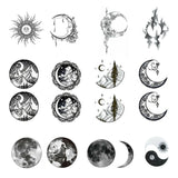 OnDecal Vintage Moon Earth Temporary Tattoo