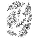 OnDecal Black Flowers Temporary Tattoo