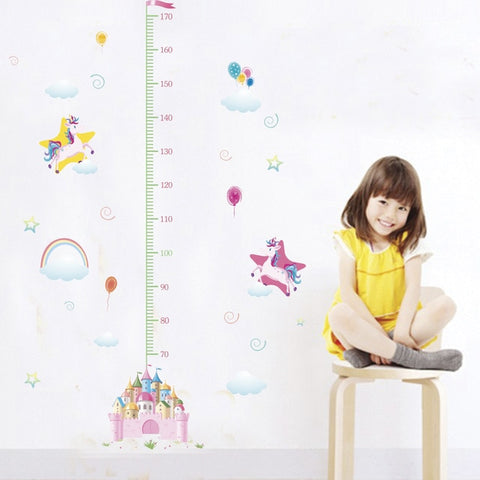 Unicorn Growth Chart Decal