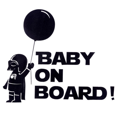 OnDecal Cartoon Sketch Baby on Board Car Decal