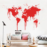 OnDecal Art Design World Map Wall Decal