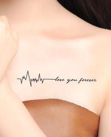 OnDecal Love You Forever Temporary Tattoo