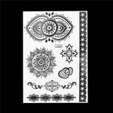 OnDecal Black Ink Henna Temporary Tattoos