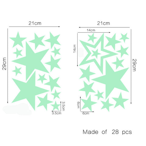 OnDecal Glow In The Dark Decorative Stars
