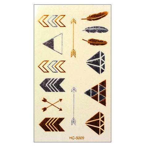 OnDecal Gold Metallic Temporary Tattoo